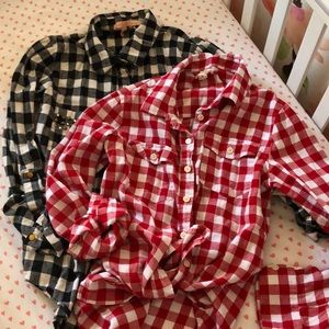 Tops - Set of 3 flannel shirts!